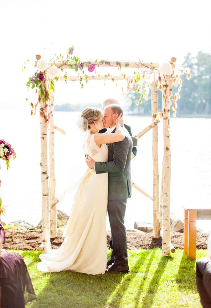 Altar de boda al aire libre - Justin & Mary