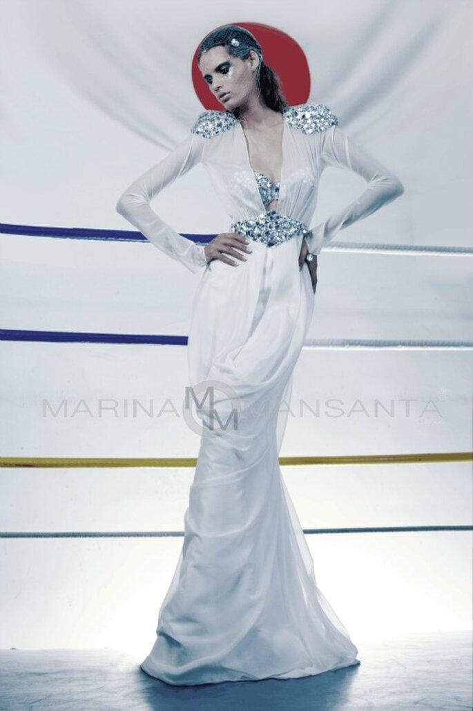Modello 'Alie Logato' di Marina Mansanta. Courtesy: Ufficio Stampa marinamansanta.com