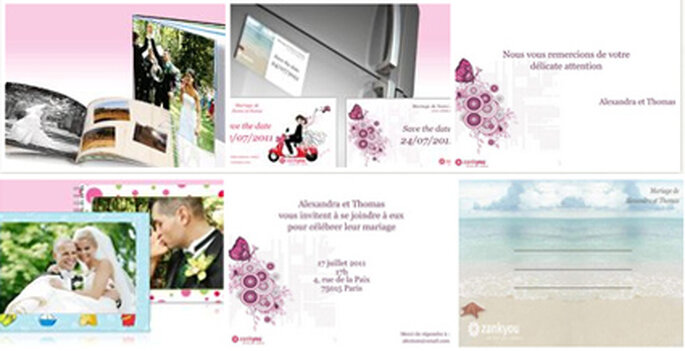 Vistaprint carte de remerciement mariage