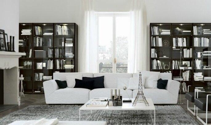 Un salotto simmetrico, ideale per gli spazi grandi