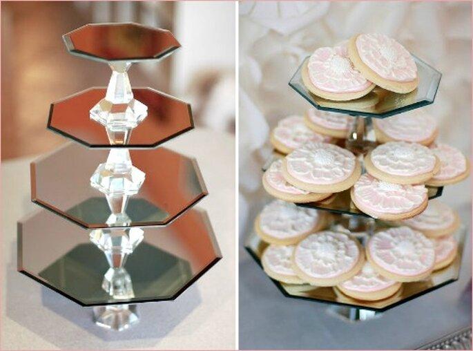 Les buffets de desserts réjouiront les gourmandes ! - Source : Mariages Rétro