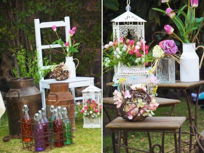 accesorios para tu decoración de boda. Fotografía Couture Rentals