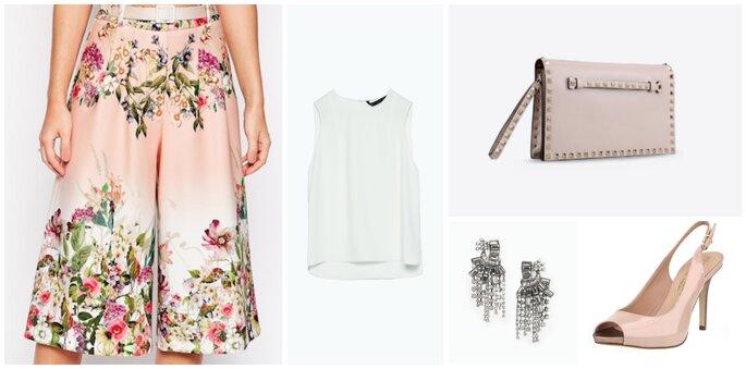 Jupe-culotte : Asos / Top : Zara / Chaussures : La Botte Chantilly / BO : Mango / Sac : Valentino