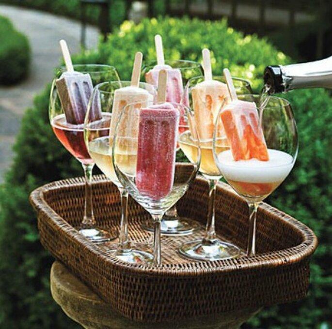 Refrescá a tus invitados con helados en tu boda
