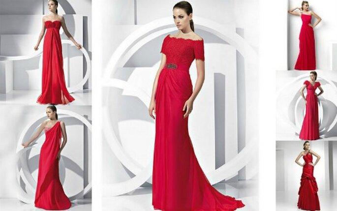 Lo stile inconfondibile degli abiti firmati Pronovias si riconosce anche in questi modelli colore della passione. Pronovias Collezione Fiesta 2012