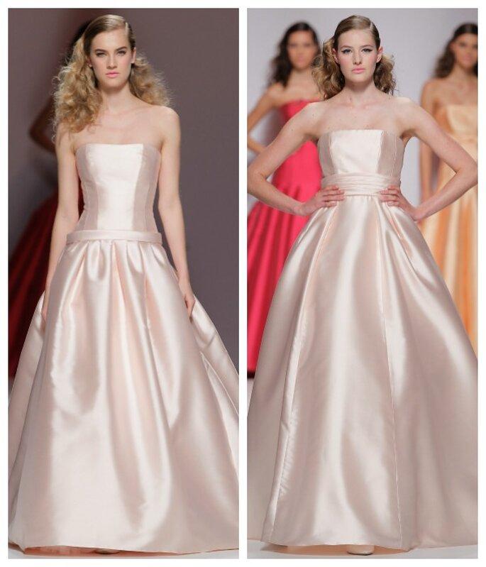 Vestidos de novia primavera 2015 en color rosa pastel - Foto Cymbeline