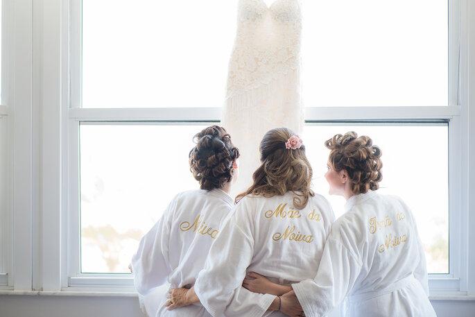 Noiva e família making of