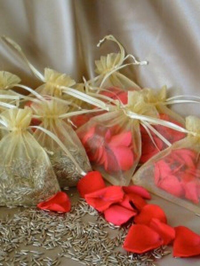 Arroz dorado para bodas con glamour