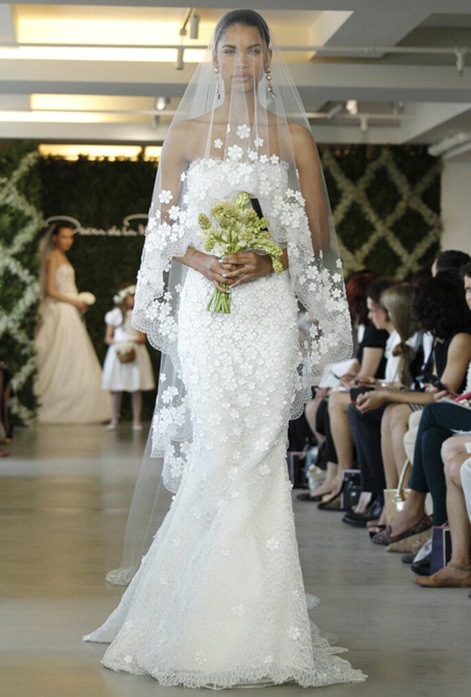 Romantisch sind die langen Brautschleier von Oscar de la Renta – Foto: Oscar de la Renta