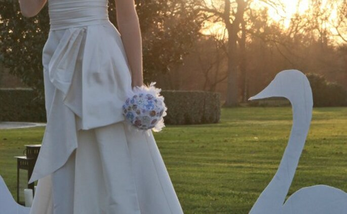 """Bouquet compatto """"a palla"""". Foto: Lili Renée"""