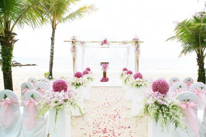 Los mejores acentos de color rosa para decorar tu boda - Foto Wandee007 via Shutterstock