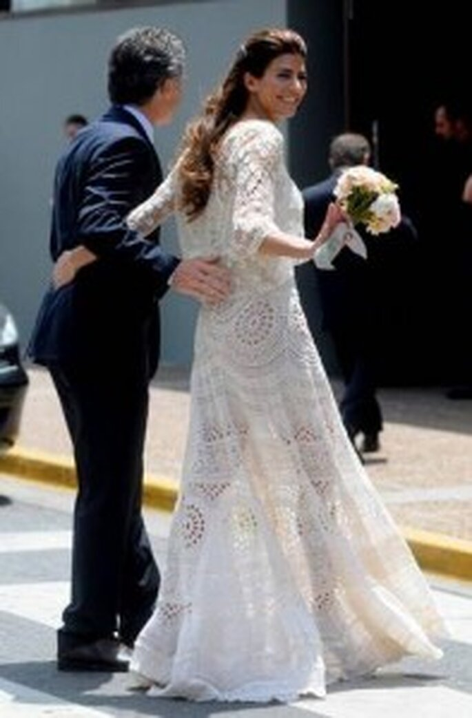 Vestido tejido de boda civil