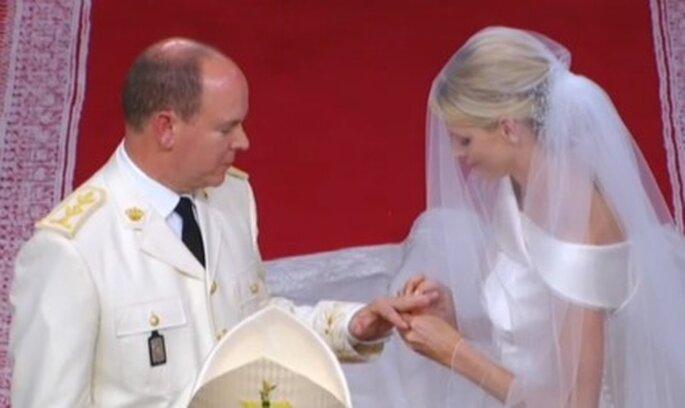 Ringtausch Charlene Wittstock und Fürst Albert II.