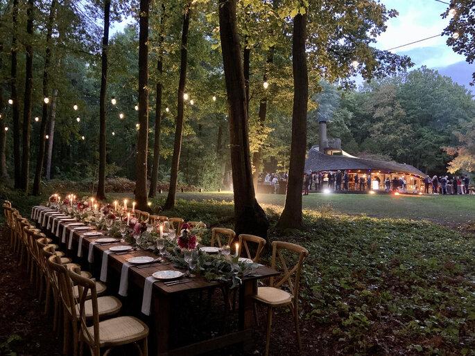 Lieu de réception pour un mariage en pleine forêt