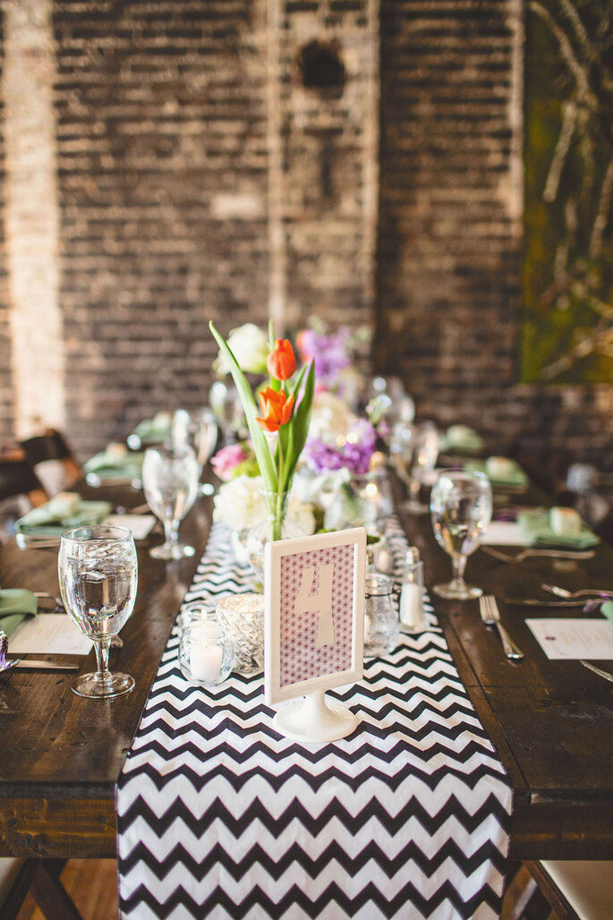 Chevron en la decoración de tu boda - Michael Moss Photography