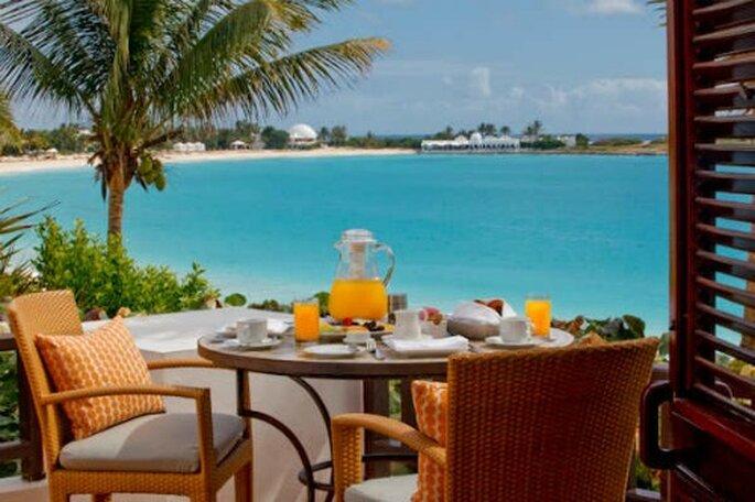 Terrazza dove viene servita la colazione. Chi non vorrebbe un buongiorno così?