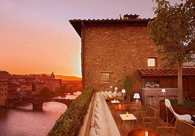 La Terrazza Lounge Bar, Hotel Continentale, Florencia