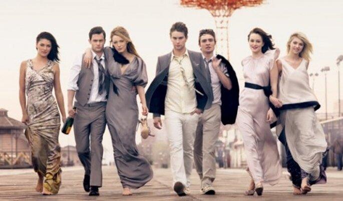 "Personajes principales de la serie ""Gossip Girl"". Foto. Gossip Girl, CW,Warner Brothers"