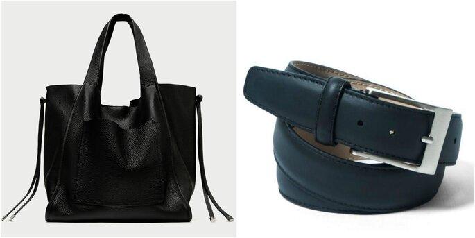 Foto: Cartera shopper (Zara) / Cinturón liso (Soloio)