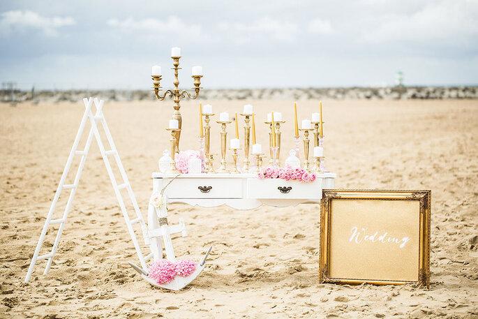 Kerzen als Hochzeitsdekoration