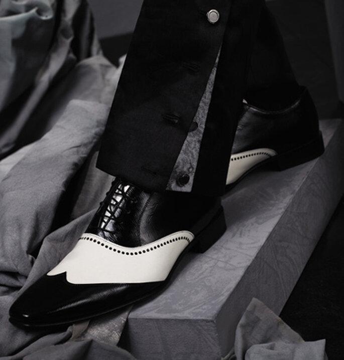 Für den perfekten Auftritt - modische Schuh-Klassiker in schwarz/weiß.