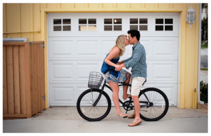 Une promenade romantique en bicyclette - Photo Kate Noelle Photography
