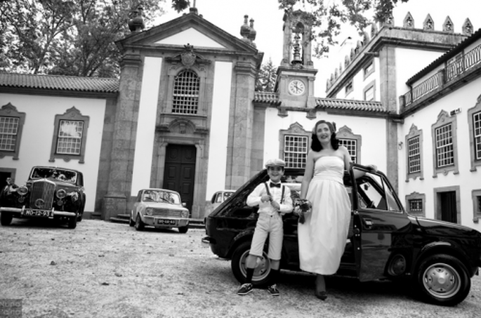 Boda retro inspirada en los 59s. Fotografía Nuno Palha