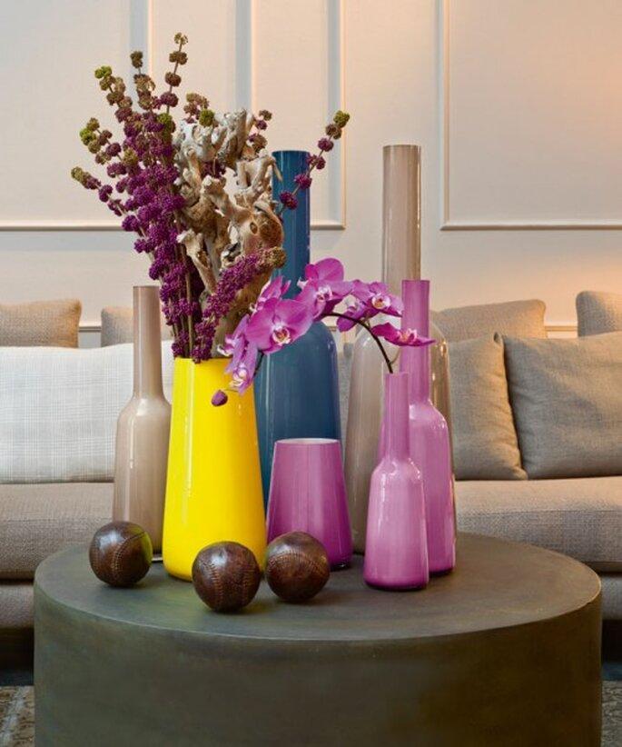 Floreros para decoración. Foto Villeroy & Boch
