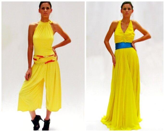 Jumpsuit de lycra y vestido de gasa, diseños de MIPA