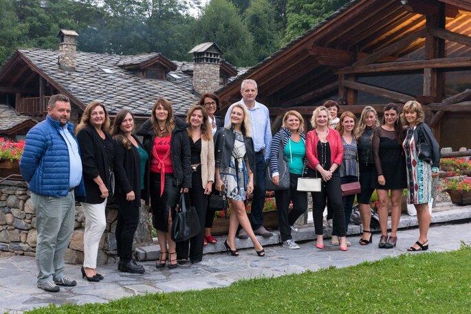 Il gruppo al gran completo. Foto via Assessorato Turismo Regione VDA_ Ph Gaetano Madonia