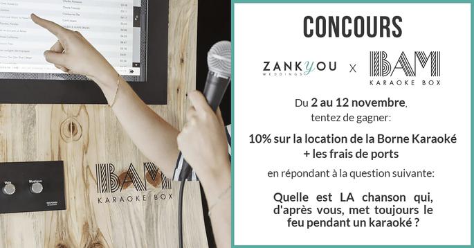 Jeu Concours Bam Karaoke Box Gagnez L Animation Qui Fera Sensation Le Jour De Votre Mariage