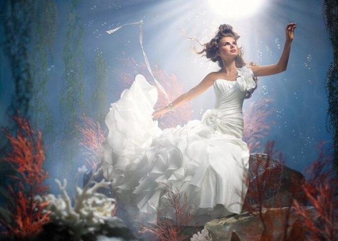 Vestido de novia inspirado en Ariel - Foto Alfred Angelo