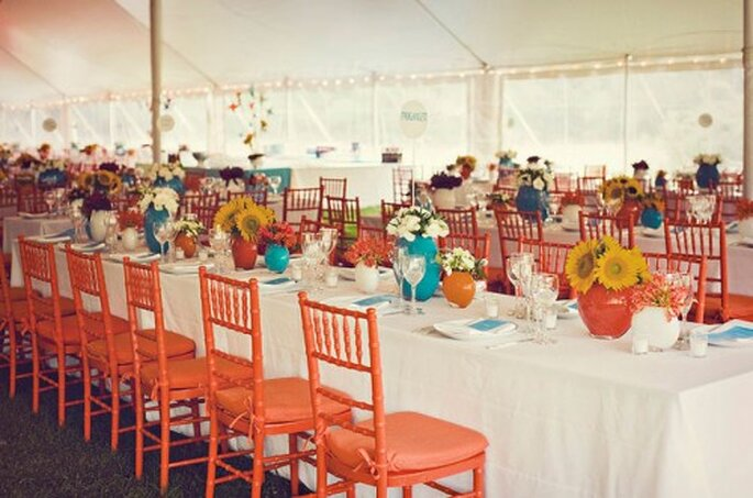 Los más lindos detalles de boda en color azul - Foto: Green Wedding Shoes