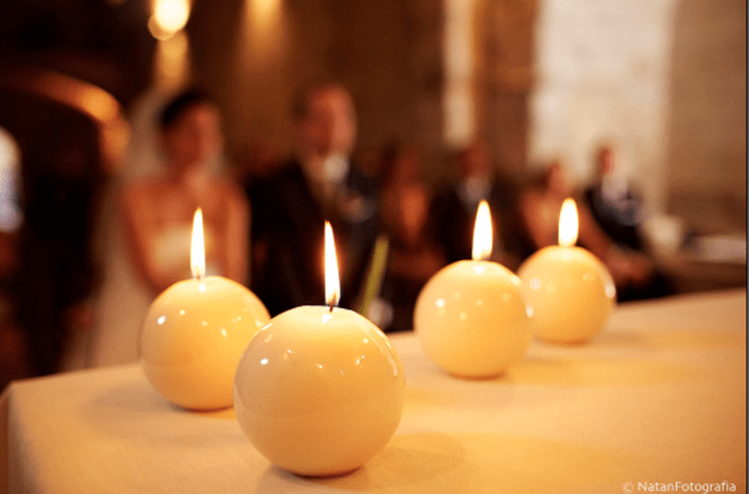 Velas aromáticas y decorativas para tu boda. Imagen Natan Fotografía