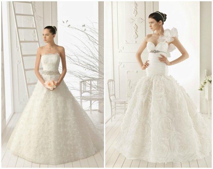 Gonne in tulle e organza, corpetti aderenti e dettagli gioiello. Ecco la sposa Aire Barcelona 2013. Foto: www.airebarcelona.es