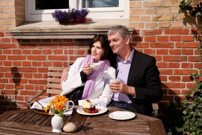 Im Hofcafé auf Fehmarn können Sie nach der Hochzeit die Insel genießen – Foto: Tourismus-Service Fehmarn, Sybille Zettler