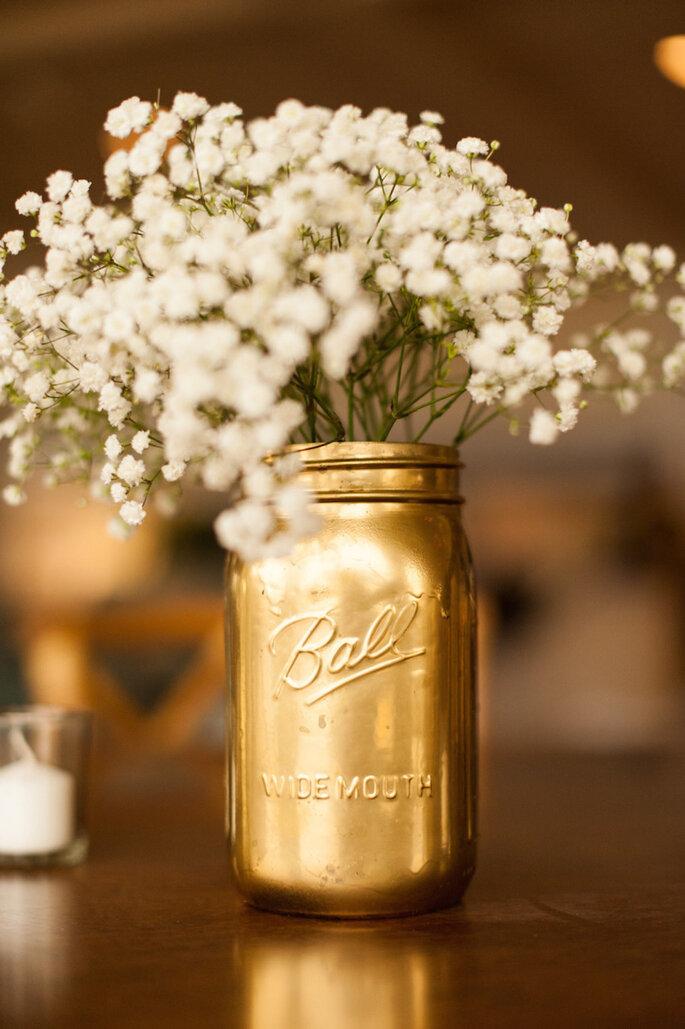 Las ideas más originales para usar los mason jars en tu boda - A.J. Dunlap
