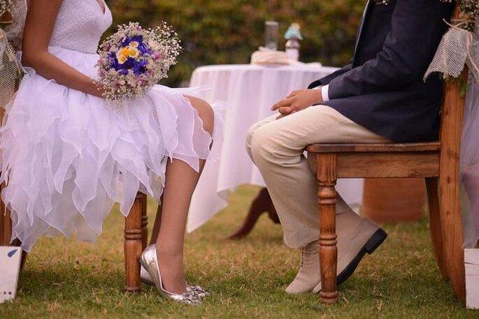 Los novios antes de la ceremonia. Foto: Juyá Photographer