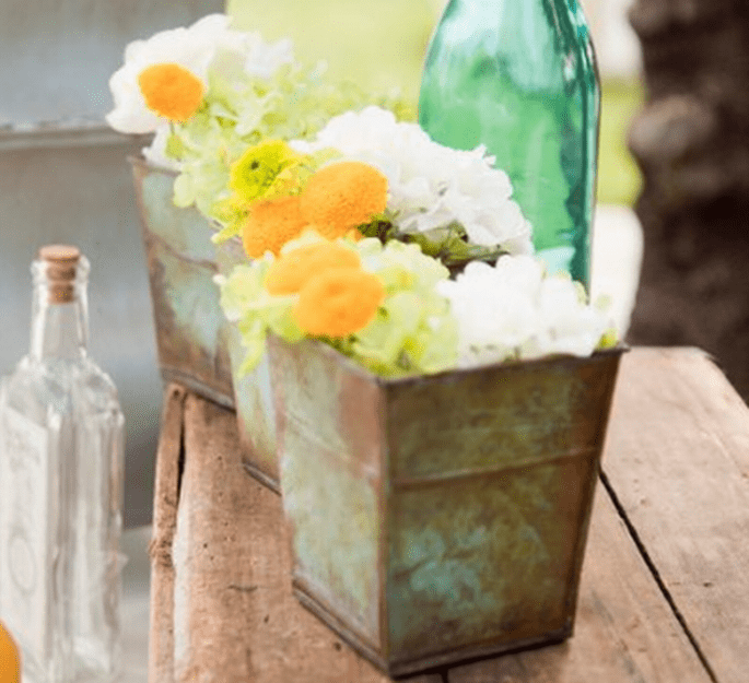 Centro de mesa para boda con inspiración vintage y ecológica - Foto FreshIvey Photography
