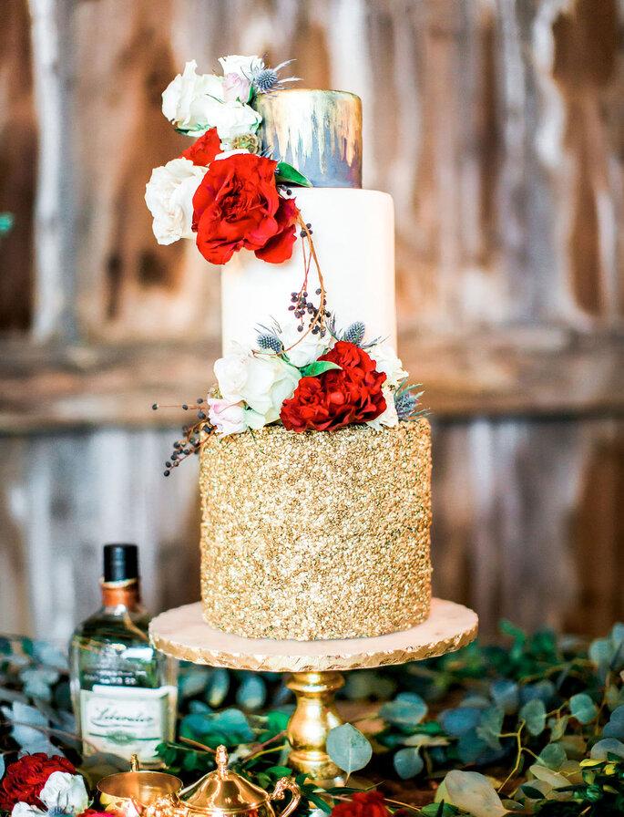 Hochzeitstorte Glitzer