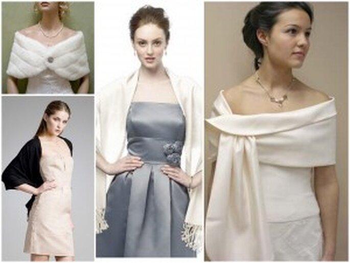 Diferentes propuestas de estolas para tu vestido de novia invernal