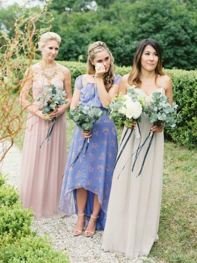Cómo combinar los vestidos de tus damas de boda - Joseba Sandoval