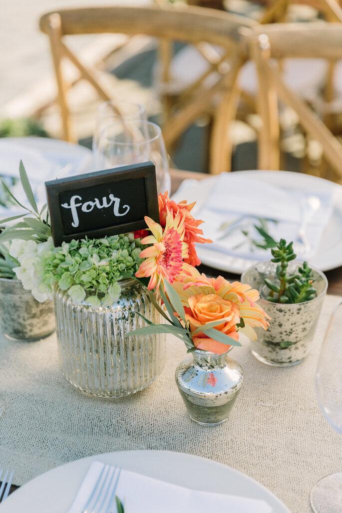 Numeración de mesas - Matt Edge Wedding Photography