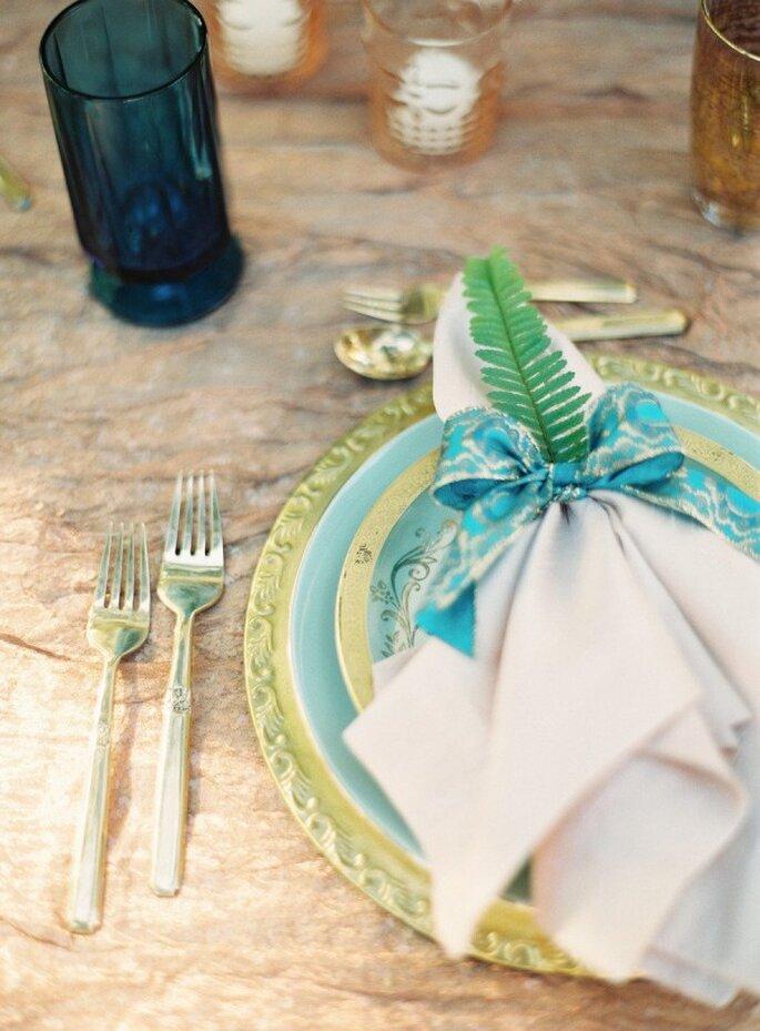 Ramitas en color verde para decorar los montajes de mesa - Foto Kurt Boomer