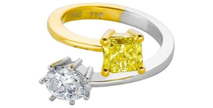 Sortija con dos tipos de oro y diamantes- Foto: Tous