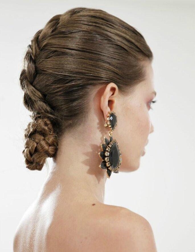 Trenzas, el peinado must para las novias con estilo - Foto Oscar de la Renta