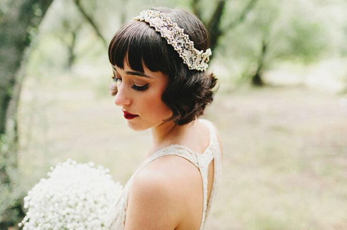 Peinados con capul para novia