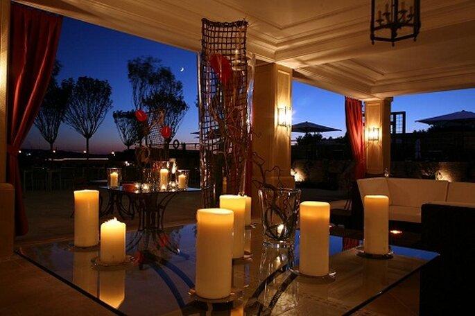 El hotel cuenta con relajantes espacios 'chill out'. Foto: Hilton Buenavista Toledo.