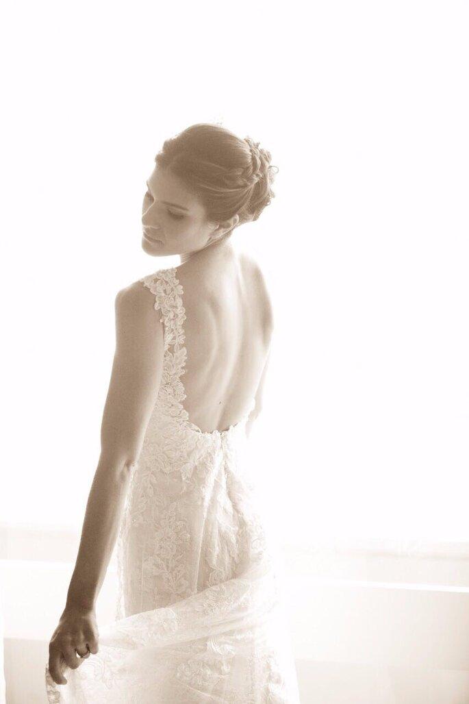 Noiva tem uma ideia melhor de como o vestido ficará do que pelo desenho