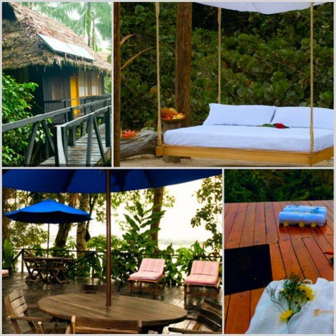 Detalles del eco-hotel en el Parque Amacayacu.